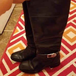 Michael Kors black leather riding boots size 6M
